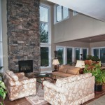 Muskoka golf villa living room