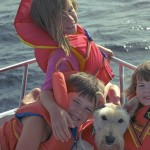 Kids Muskoka cottage boating