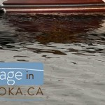 Muskoka cottage wooden boat