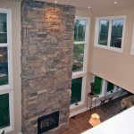 Muskoka golf villa 2 storey fireplace