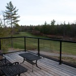 Muskoka golf villa balcony view south