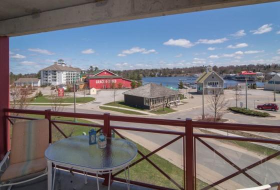 Muskoka Condo balcony view
