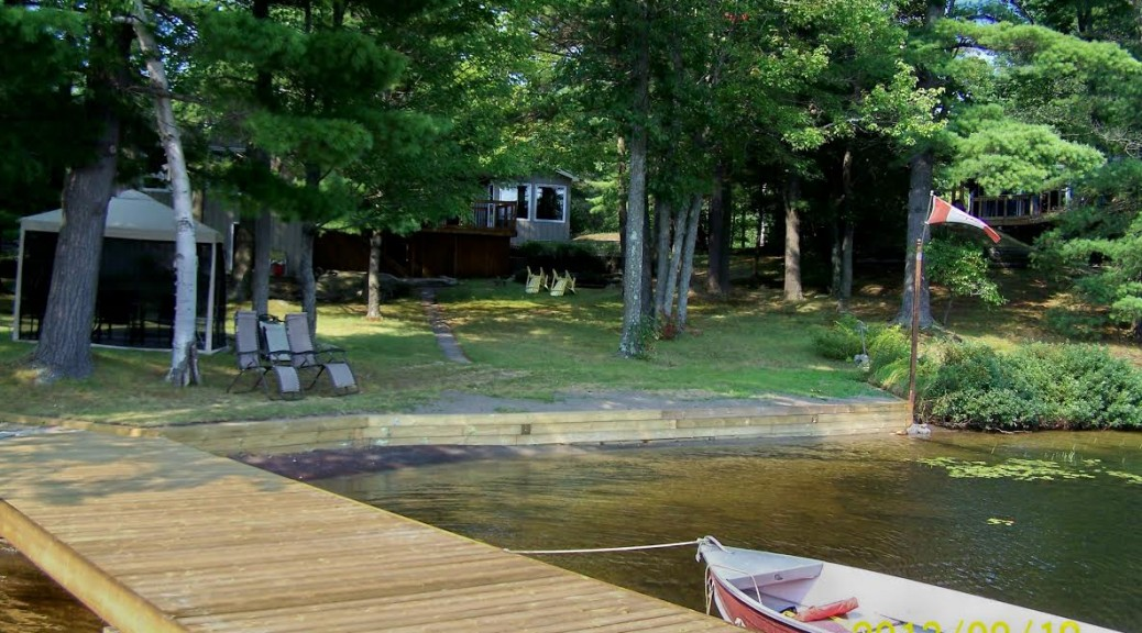 Muskoka cottage dock